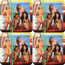 "Lot 4 - 2005 ""Calendar Girls"" Belize Belikin Beer Coasters Mats Unused Mint"