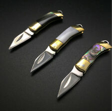 1x Genuine Shell Handle WOLF Knife Survival Saber Tool Key knife Gift + Key Ring