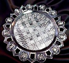 EAPG Pattern Glass Cake Plate MALTESE IRON CROSS IN CIRCLES Bryce Brothers 1890
