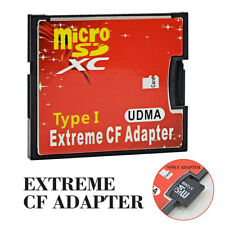 Micro SD TF CF Micro SDHC to Compact Flash Type I Memory Card Reader Adapter USA