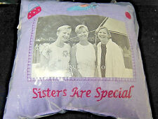 Personalized Photo Purple Throw Pillow - Sisters are Special [S6639]