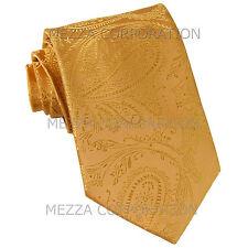 New Vesuvio Napoli polyester Men's necktie paisley wedding formal prom Gold