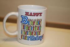 1990 Brite Ideas Happy Birthday Coffee Mug Candles B12