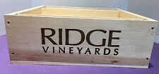 Wooden Wine Box Crate Ridge Vineyard Monte Bello Magnum NO LID