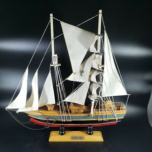 "Blue Nose Schooner Model Ship Vintage Sail Boat 15"" Long"