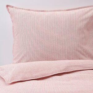 IKEA BERGPALM King Size Duvet Cover & 2x Pillowcases white/red/stripe