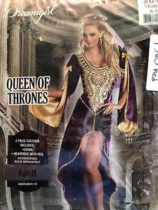 Queen of Thrones Sexy Renaissance Gown Purple Womens Costume Adult Medium 6-10