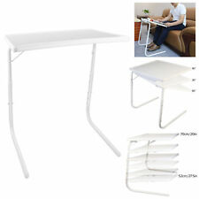Foldable Table Adjustable Tray Laptop Desk Home Bed Office Dinner TW Portable UK