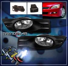 2006-2007 HONDA ACCORD COUPE 2DR BUMPER DRIVING CHROME FOG LIGHT LAMP +8000K HID
