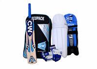 Left Handed CW Batting Set SMASHER Cricket For Player Including Bat 4Pc Kit