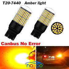 2x T20 7440 144SMD 3014 Led Car Turn Signal Tail Light bulbs no hyper flash W21W