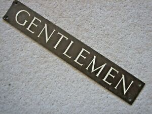 Brass Gentlemen Toilet Door Plaque Sign