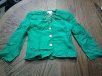 Vintage Christian Dior Suit Blazer Green Size 8 (cb38)