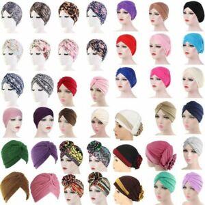 Women Hair Loss Wrap Cancer Chemo Cap Muslim Turban Hat Hijab Beanie Head Scarf