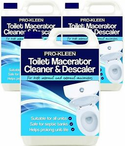15L of Pro-Kleen Toilet Macerator Cleaner & Descaler Compatible With All Saniflo