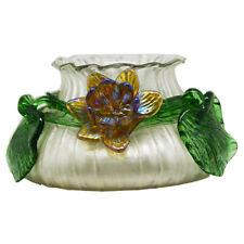 Loetz or Bohemian Vase with Iridescent Flower