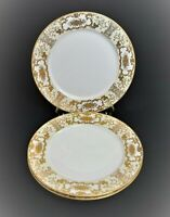 VINTAGE ADLINE CHINA MAJESTIC OCCUPIED JAPAN 3 DINNER PLATES HAND PAINTED GOLD