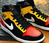 Nike Air Jordan 1 Retro Mid 'RayGun' - Yellow / Black - Sizes 6-12UK 852542-087