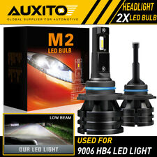 2X AUXITO 9006 HB4 LED Headlight Kit High Beam Super bright Bulb 12000LM M2 EOA
