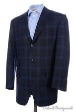 BOGLIOLI Blue Plaid Check 100% Wool Blazer Sport Coat Jacket - EU 52 / US 42 R