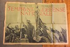 """Ww I Poster by A Lelong """"République Française 3e Emprunt de la Défense Nationale"""