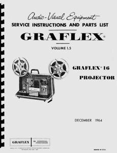 Graflex 16mm Sound Projectors Service & Repair Manual Reprint