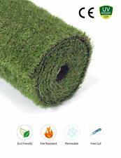 GOLDEN MOON Artificial Grass Mat 5-Tone Mowed-Lawn Touch Outdoor Green 3'x 8'