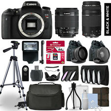 Canon Rebel T6s SLR Camera 4 Lens Kit 18-55 + 75-300mm + 64GB Accessory Bundle