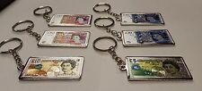 New 6 pcs 3D Metal Pound Money England souvenirs Keyring set Uk Stock Fast Ship