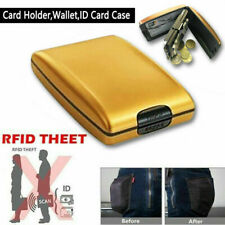 RFID Scan Protected Hard Case Security Wallet Bank Credit Cards Holder Aluminium