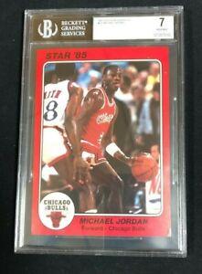 Michael Jordan 1985 Star Team Supers CB1 5x7 BGS 7 Near Mint