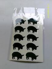30 X Nero Adesivi di Maiale-Grande divertimento per bambini piccoli animali fattoria
