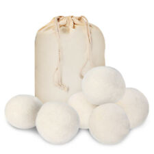 6 Wool Dryer Balls XL 100% New Zealand Wool Natural Laundry Fabric Softener