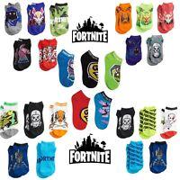 NWT Licensed FORTNITE Logo 5 PAIRS Camo Llama Neon Masks Chaos Reigns Crew Socks