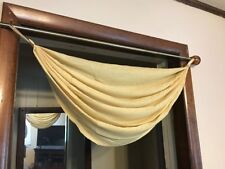 Martha Window Flutter Tab-Top Waterfall Valance 29 W x 32 L Golden Cocoon