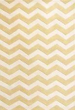 Safavieh Chatham Hand Tufted Rug Yellow/White 1.52 x 2.43m Medium Plush Wool