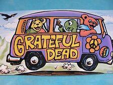 Grateful Dead Dancing Bears & Terrapin Trippy Tour Bus 4.25 x 8 Inch Sticker