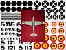1/32 Me-109 Spanish Civil War Decals Condor Legion Nationalist Republican Forces