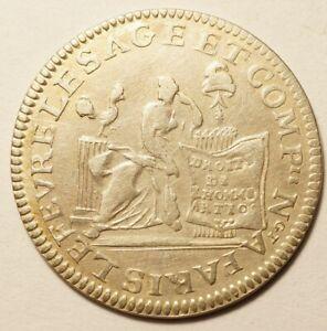 REVOLUTION : RARE 20 SOLS ARGENT DE LEFEVRE 1792