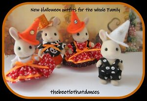 Sylvanian Families Clothes, New Halloween Set for the whole Family, Rabbit ETC