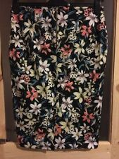 Cotton Calf Length Straight, Pencil Floral Skirts for Women
