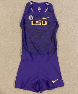 Nike Pro Elite Speedsuit LSU Tigers Team Issued Track Field Women's Size Small