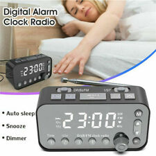 Funk DAB+ Radiowecker Tischuhr FM UKW Uhrenradio Alarm 2 USB LED Projektion DE