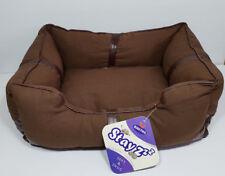 BNWT Bono Fido Stayzzz Canvas Rectangle Padded Pet Bed Coco 35 x 45 cm