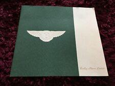 Bentley Brochure 1992 - Eight, Mulsanne S, Turbo R, Continental
