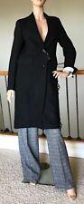 UNIQLO INES DE LA FRESSANGE WOMEN BLACK WOOL BLEND CHESTER COAT NWT SIZE S