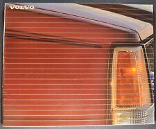 1987 Volvo Catalog Brochure 740 GLE Wagon 760 Turbo Sedan Excellent Original 87
