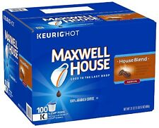 Maxwell House Blend Coffee, 100% Arabica Beans Medium Roast, Keurig (100 K-Cups)