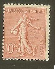 """FRANCE N°129 """"SEMEUSE LIGNEE 10c ROSE"""" NEUF xx TTB"""