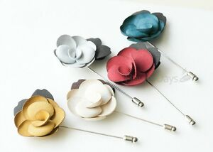 Suede Men's Flower Boutonniere / Buttonhole For Wedding,Lapel Pin,Tie Pin